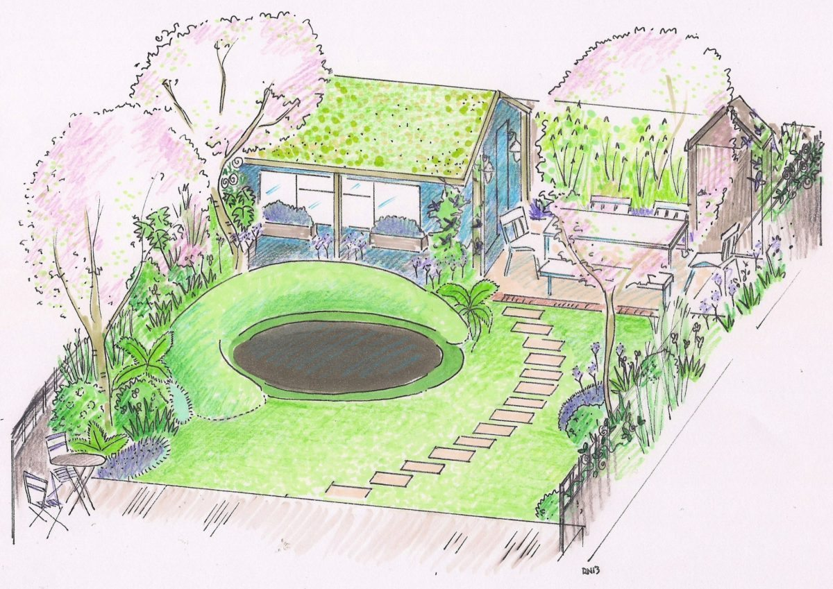 Trinity Road garden design London