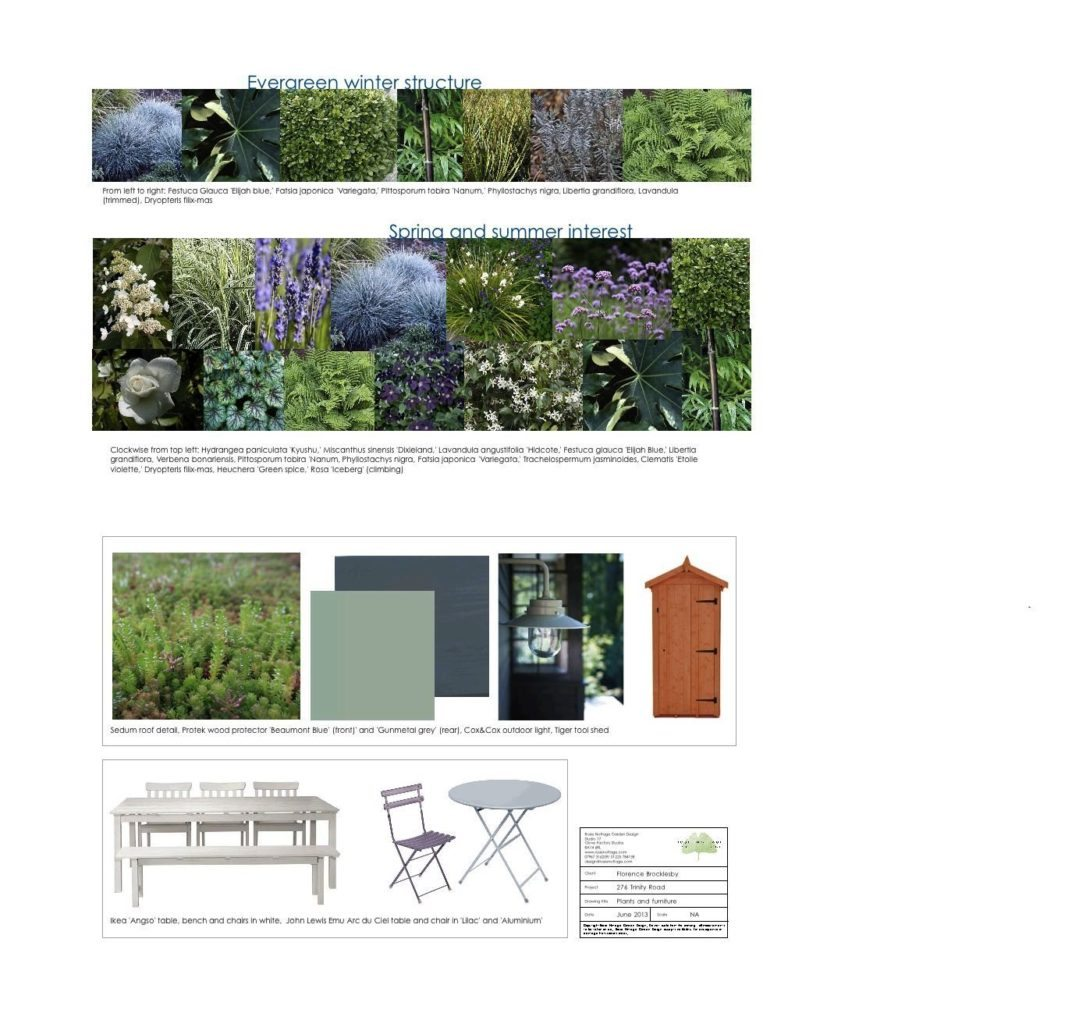Trinity Road garden design London furniture