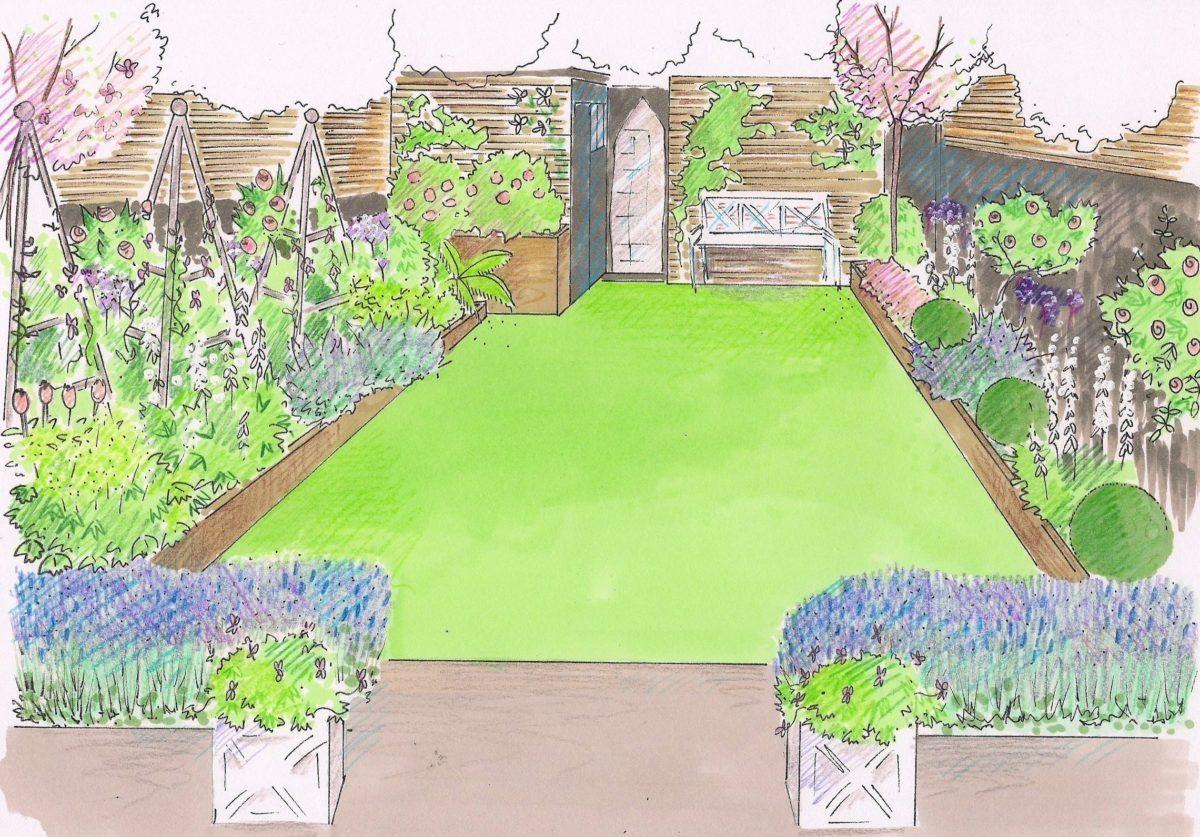 honeybrook road garden design sketch London