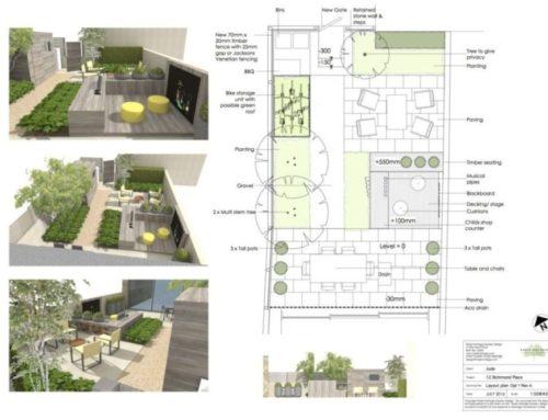 Small family garden, Bath