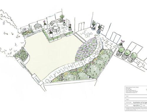Provencal front garden, Bath